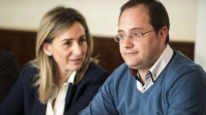 El secretario de Organización del PSOE, César Luena, ayer en Toledo.
