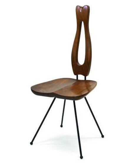 La silla de comedor de la serie 'Samisen' de Papanek.