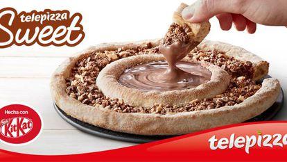 La nueva Telepizza Sweet con trozos de KitKat.