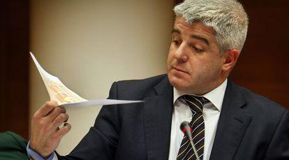 José López Jaraba, en una Comisión de Control de RTVV en Les Cortes.