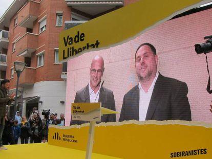 Raül Romeva y Oriol Junqueras intervienen por videoconferencia desde la cárcel de Soto del Real.
