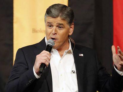 El presentador de Fox News Sean Hannity, en marzo