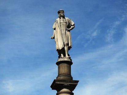Estatua de Cristóbal Colón en Nueva York.