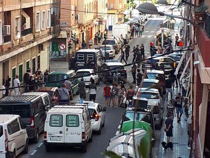 La riña tumultuaria del miércoles en el barrio valenciano de Orriols se saldó con nueve personas detenidas y otras tres heridas.