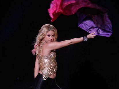 Shakira, en un concierto en Puerto Rico, en 2014.