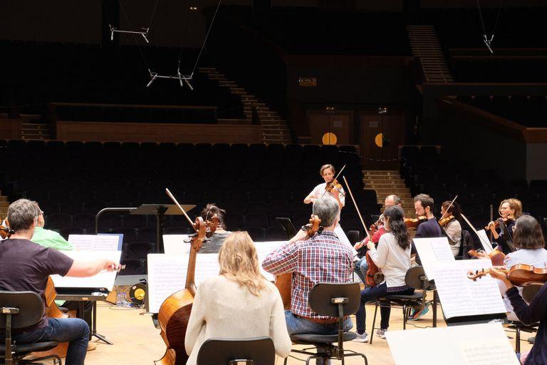 Ensayo de la Orquesta Sinfónica de Galicia el pasado 17 de junio en A Coruña, en una imagen cedida por la formación.