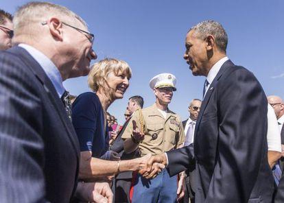 Obama rinde hoy homenaje al movimiento de derechos civiles que mejoró hace medio siglo las oportunidades para las minorías del país.