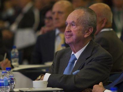 Alberto Baillères González, presidente del Grupo BAL durante la reunión nacional de consejeros de BBVA Bancomer el 9 de junio de 2015.