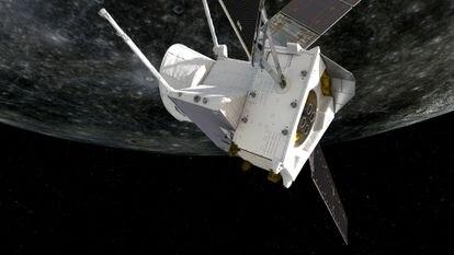 Restauración de la sonda BepiColombo sobrevolando Mercurio.