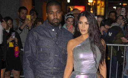 Kanye West y Kim Kardashian, en Nueva York (EE UU), en octubre.