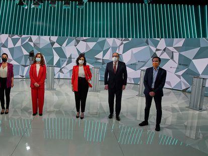 Debate electoral en Telemadrid previo a las elecciones a la Asamblea de Madrid.