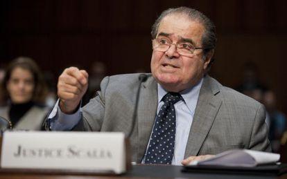 El juez Scalia interviene en el Congreso.