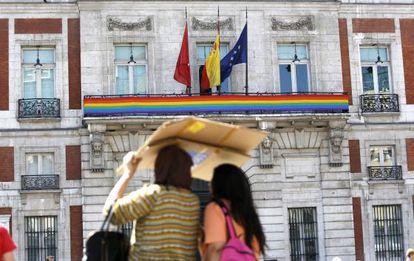 Fachada del Gobierno regional en la Puerta del Sol