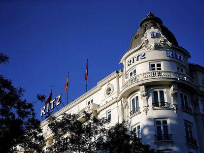 Fachada del hotel Ritz de Madrid.