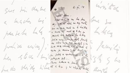 Carta de Juan Carlos I a Álvaro de Orleans en el que agradece la invitación a viajes en avión.