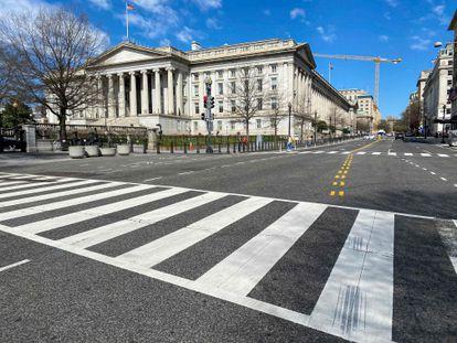 La sede del Departamento del Tesoro en Washington, en una imagen del pasado marzo.