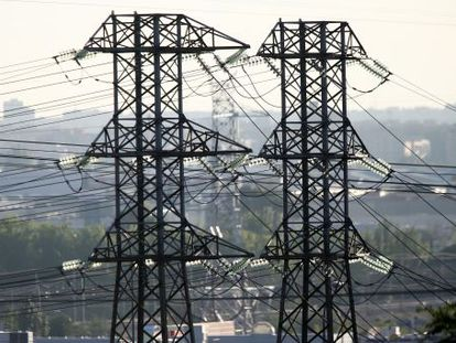 Torres eléctricas en Madrid