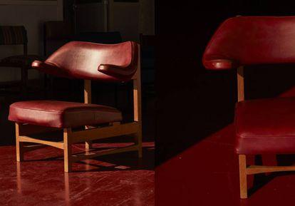 Modelo tapizado en piel de la silla Toro, de Miguel Fisac.