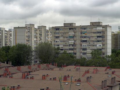 Vistas del Poblado Dirigido de Orcasitas, en el distrito madrileño de Usera, declarado Área Preferente de Impulso a la Regeneración Urbana (Apiru), que puede optar a las ayuda Mad-re para la rehabilitación de inmuebles