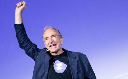 Tim Berners-Lee en el Campus Party de Italia.