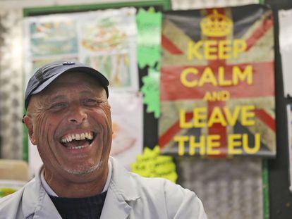 Mercado de Havering, en Londres, donde se votó a favor del Brexit