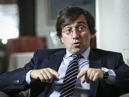 Jose Manuel Albares, durante la entrevista el pasado viernes en el Círculo de Bellas Artes de Madrid.