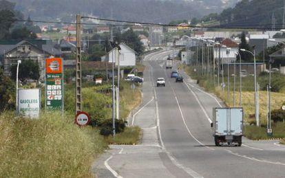 Gasolinera en Caldas de Reis (Pontevedra) de la que fue apoderado Marcial Dorado y propietario su testaferro Manuel Cruz.