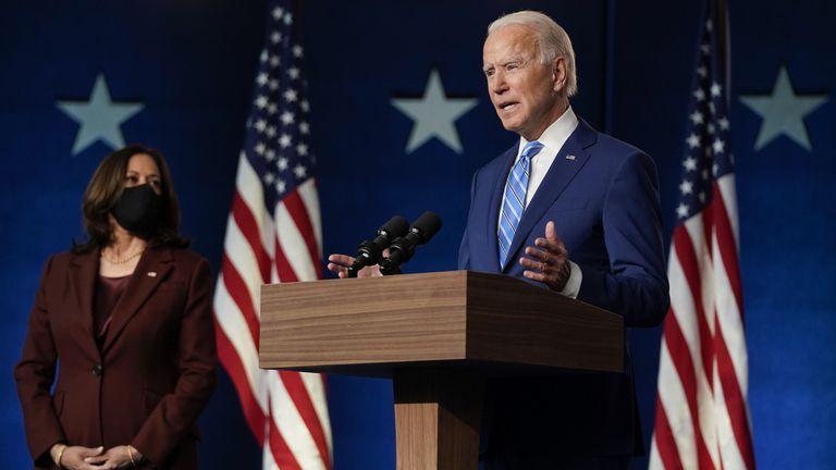 Joe Biden, durante su aparición el miércoles en Wilmington (Delaware).