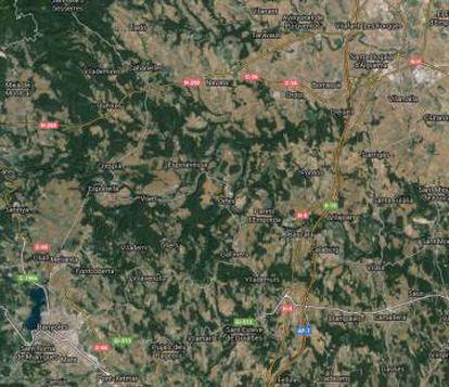 La zona donde se ha notado el temblor.