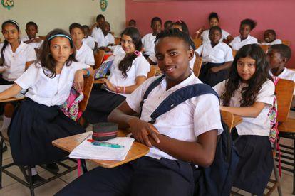 Estudiantes en Honduras.
