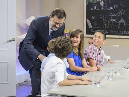 Mariano Rajoy en el programa de Telecinco.