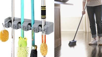 Este organizador permite mantener en orden artículos de limpieza como escobas, mopas o fregonas. GETTY IMAGES