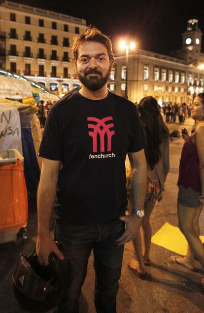 Marcos García, de 31 años, se siente un privilegiado por tener trabajo.
