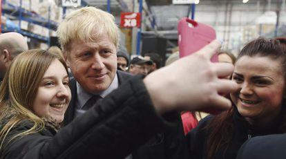 El alcalde de Londres, Boris Johnson, tras un discurso a favor del Brexit.