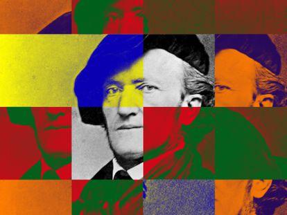 El compositor alemán Richard Wagner (1813-1883).