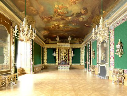 Estancias del Royal State Apartment de Agusto el Fuerte en el Residenzschloss, el palacio real de Dresde.