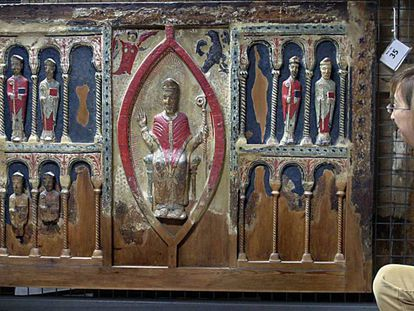 El frontal de Sant Hilari de Buira, una de las obras reclamadas por el Obispado de Barbastro-Monzón y que se encuentra en Lleida.