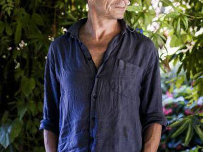 El escritor francés Emmanuel Carrère, la semana pasada en Pollença.