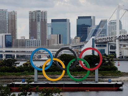Los aros olímpicos llegaron a Tokio el pasado día 27.
