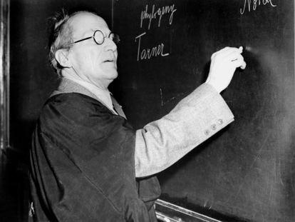 Erwin Schrödinger, en una imagen en torno a 1950.