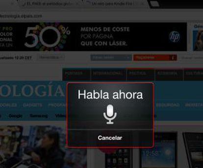 Chrome para iPad permite búsquedas al dictado en español