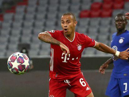 Thiago, en el último envite ante el Chelsea.