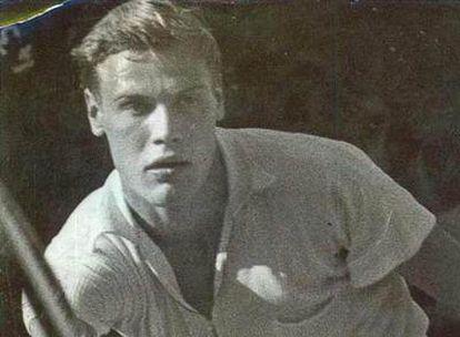 Lennart Bergelin, en un partido.