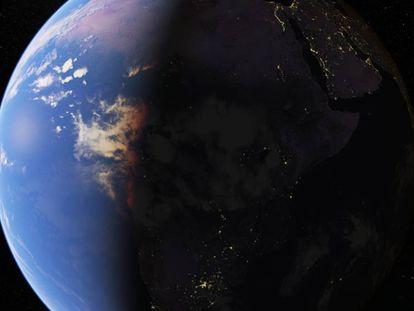 Imagen de la Tierra de Google Earth.