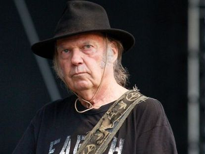 Neil Young, cantante canadiense.