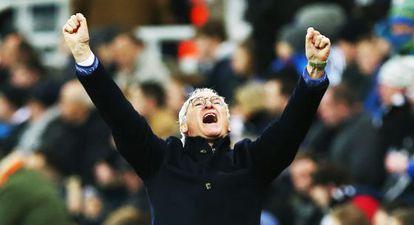 Ranieri celebra un gol contra el Newcastle el sábado pasado.
