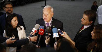 García-Margallo, en una rueda de prensa en Washington.
