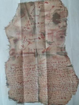 El mapa de las Minas del Rey Salomón, dibujado por el explorador portugués Dom Jose da Silvestra (uso restringido).