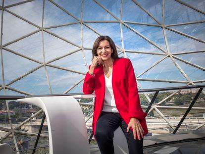 La alcaldesa de París y candidata a la presidencia de la República francesa, Anne Hidalgo, este viernes en Valencia.