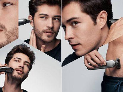 Seleccionamos este kit de afeitadora y recortadora de barba y vello corporal de la marca Braun y disponible en eBay.